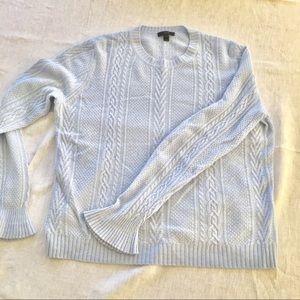 Jcrew sweater baby blue size Large